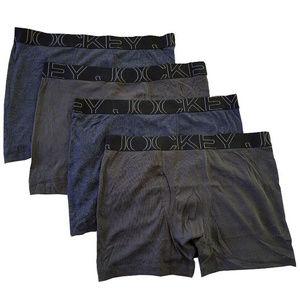 Jockey Men's Underwear Active Blend Boxer Brief -4